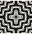 wavy lines seamless grid curly optical pattern vector image