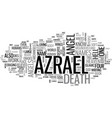 who is azrael the angel of death text word cloud vector image vector image