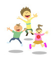 happy jumping kids vector image