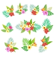 Beautiful floral jungle print with bouquet vector image
