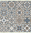 a collection of ceramic tiles in blue retro colors vector image