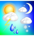 abstract weather image set vector image vector image