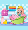 baby room theme image 4 vector image vector image