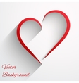 Background with beautiful line of heart vector image vector image