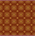 background with gold seamless pattern on dark red vector image