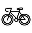 bicycle icon outline style vector image