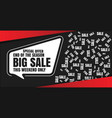 big sale special offer banner vector image vector image