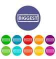 Biggest flat icon vector image vector image