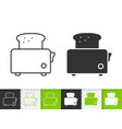 bread toaster simple black line icon vector image vector image