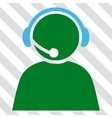 Call Center Operator Icon vector image