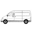 cartoon side view of generic delivery van vector image