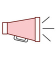 cinema director megaphone isolated icon vector image