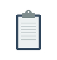 Clipboard with a sheet of paper vector image vector image
