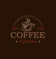 coffee shop logo design template retro coffee vector image