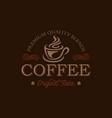 coffee shop logo design template retro vector image