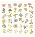 Collection of hand drawn flowers Elements for vector image
