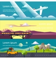 Colourful Flat Banner vector image