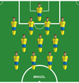 Computer game Brazil Football club player vector image vector image
