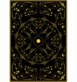 Decorative gold oriental pattern vector image vector image