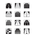 Different types of road surfaces vector image vector image