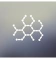 DNA molecule thin line icon vector image vector image