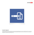 document icon - blue photo frame vector image