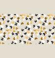 elegant scattered gold and black background vector image