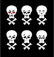 Emotions skull Set expressions avatar skeleton vector image vector image