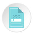 file doc icon circle vector image vector image