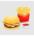 French Fries And Hamburger vector image