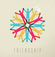 Friendship concept diversity people color design vector image