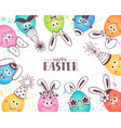 funny easter eggs vector image vector image