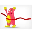Funny Monster Finish vector image vector image