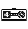 game joystick icon simple style vector image vector image