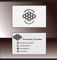gray business card vector image vector image
