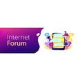 internet forum header banner vector image