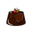 isolated sweet dessert icon vector image