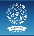 laundry cleaing service icons round concept vector image