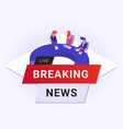 live breaking news flat poster vector image vector image