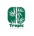Logo tropic vector image vector image