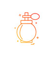 makeup icon design vector image