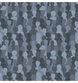 Many dark silhouettes crowd of people seamless vector image