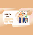 nightclub party flat vector image vector image