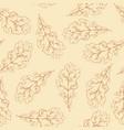 oak leaf seamless pattern vector image vector image