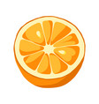 orange slice icon vector image