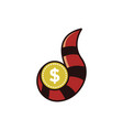 raccoon finance money logo vector image vector image