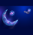 ramadan kareem greetings card design background vector image