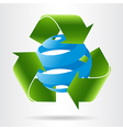 Recycle arrows and abstract blue sphere vector image vector image