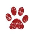 Red grunge animal logo vector image vector image