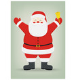 santa claus on isolated background christmas vector image vector image